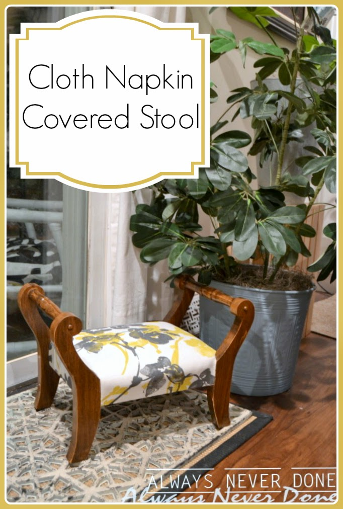 Cloth-Napkin-Covered-Stool