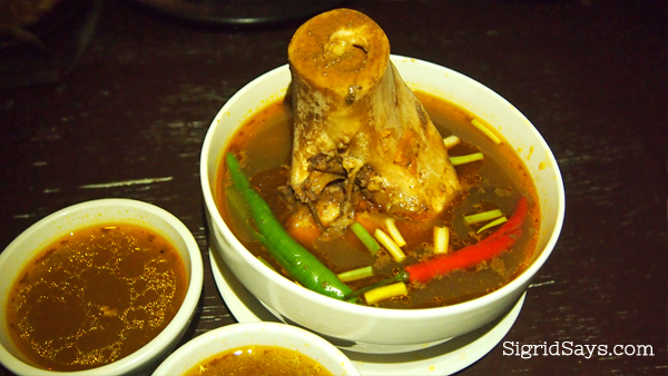 Lord Byron's backribs kansi soup