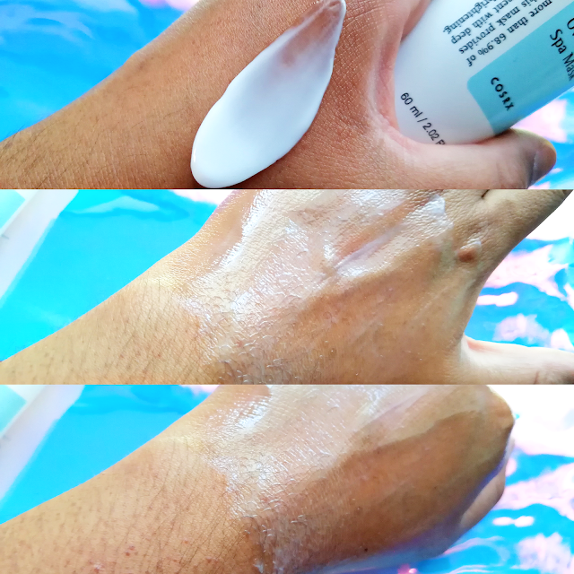 Review: COSRX Ultimate Nourishing Rice Overnight Spa Mask swatch