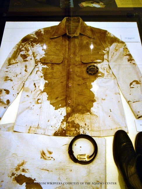 Ninoy's Bloodied Jacket at the Aquino Center and Museum in Tarlac