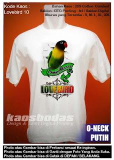 Kaos Lovebird Dakocan - Kode 10