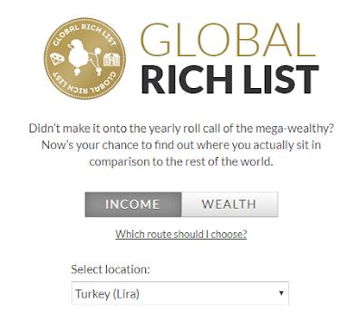 Dünya'da Diğer İnsanlara Oranla Ne Kadar Zenginsiniz: Global Rich List