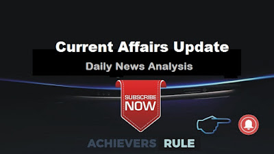 Current Affairs Updates - 8th September 2017
