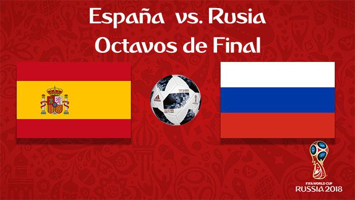 España vs. Rusia - En Vivo - Online - Octavos de Final - Rusia 2018