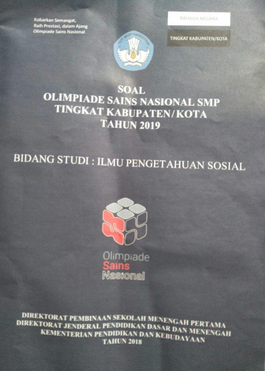 Soal Dan Kunci Jawaban Osn Ips Smp Tingkat Kabupaten Kota Tahun 2019 Mgmp Ips Indramayu