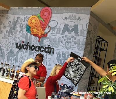 Productos Michoacanos y Artesanías presentes en el Stand de Michoacán en Comail, Festival de la Cocina Mexicana