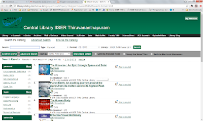 CD/DVD Database @IISER Thiruvananthapuram