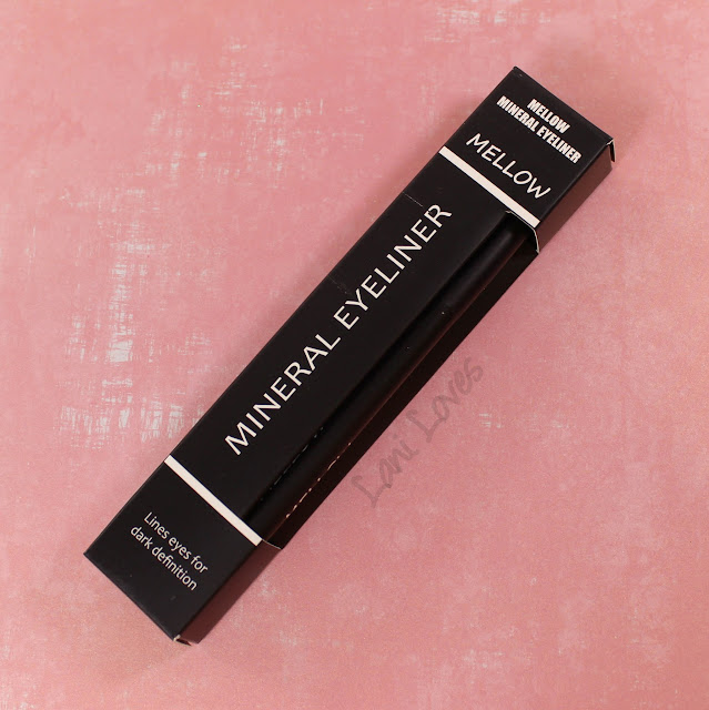 Mellow Cosmetics Mineral Eyeliner - Black swatches & review