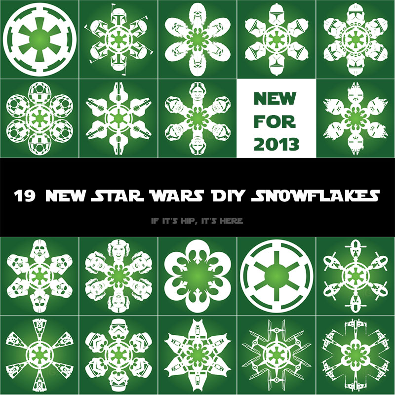 New Star Wars DIY Snowflake Templates