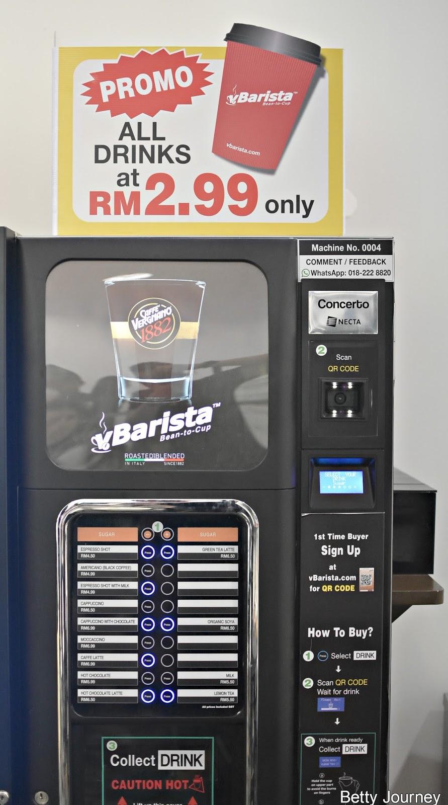 Vbarista New Cashless Coffee Vending Machine In Malaysia