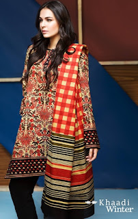 Khaadi Winter Unstitched Vol-1 Catalog 2016-2017 Dresses for Women