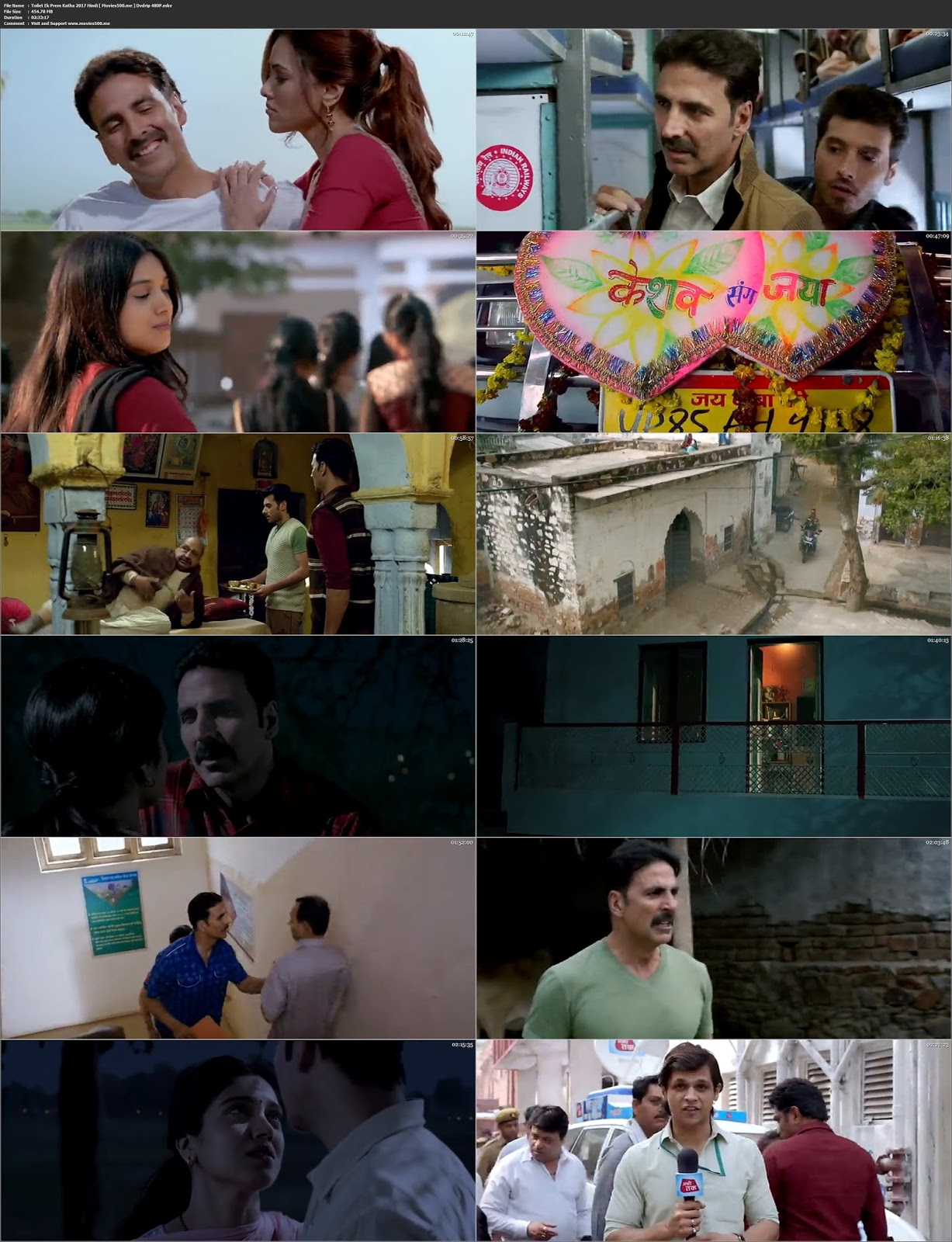 Toilet Ek Prem Katha 2017 Bolllywood 400MB DVDRip 480p at movies500.site