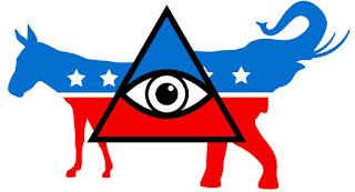 illustration of cabal control over republican and democratic parties.