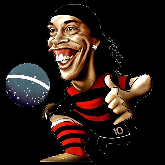 Caricatura Ronaldinho Gaucho Em Png Quero Imagem