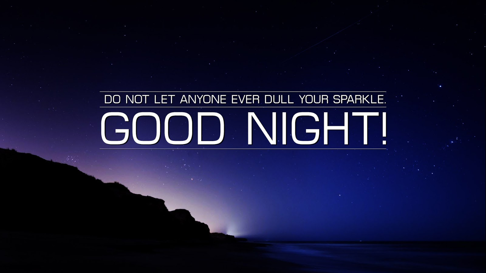 night beautiful status