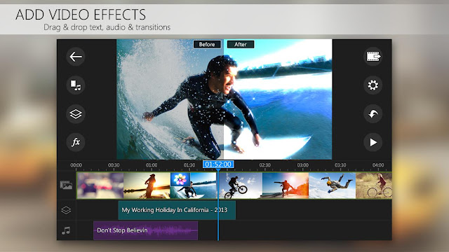 Tampilan Aplikasi PowerDirector Video Editor