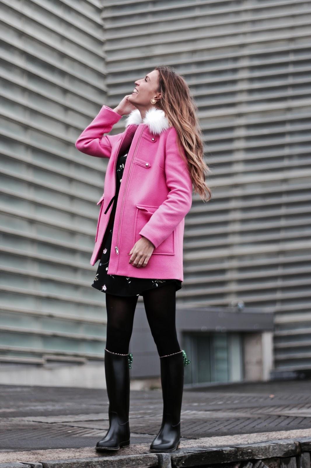 tendencia otoño abrigos rosas