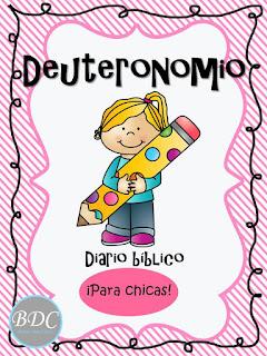 Estudio de Deuteronomio para mujeres, recursos bíblicos gratuitos para descargar. Diario para chicas. Ministerio Buenos Días Chicas.