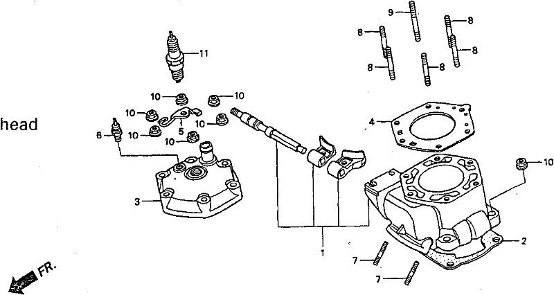 NSR Salatiga: NSR 150 SP Parts Catalogue: Cylinder