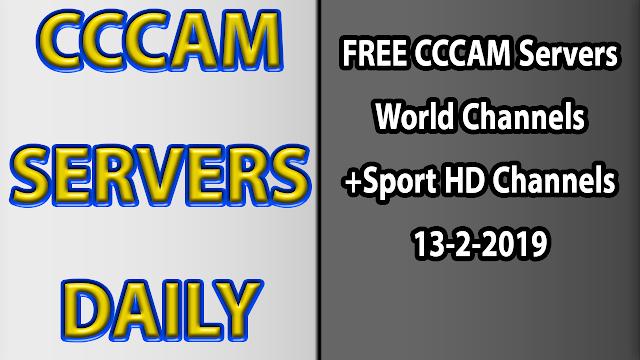 FREE CCCAM Servers World Channels +Sport HD Channels 13-2-2019