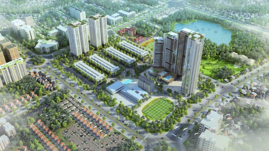 Phối cảnh dự án HD Mon City