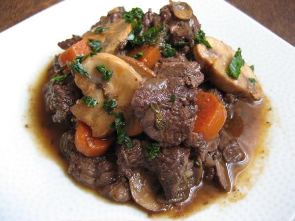 Paleo Beef Tips Burgundy