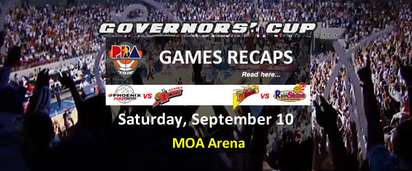List of PBA Games Saturday September 10, 2016 @ MOA Arena