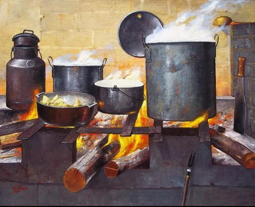 Cuadros modernos pinturas y dibujos estufas y hornillas - Fotos de cocinas antiguas ...