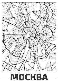 Plakat plan miasta Mocква