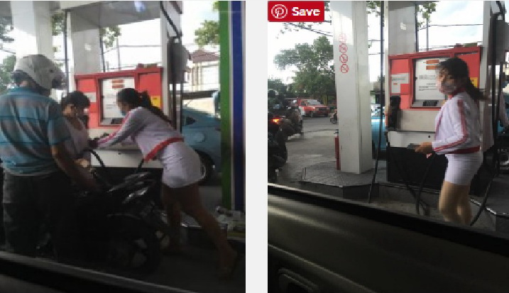 Foto-Foto Petugas SPBU Seksi di Bali