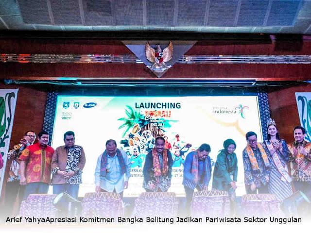 Arief YahyaApresiasi Komitmen Bangka Belitung Jadikan Pariwisata Sektor Unggulan