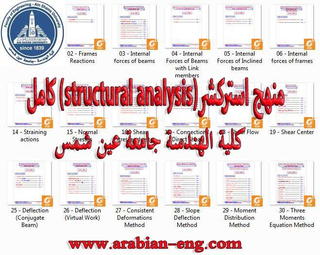 منهج استركشر (structural analysis) كامل جامعة عين شمس
