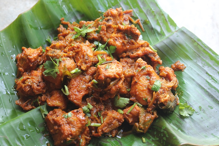 spicy chicken roast kerala style