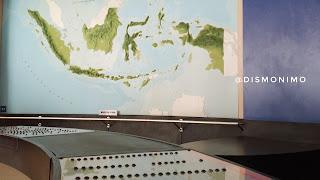 Salah satu alat simulasi di Museum Gunung Merapi