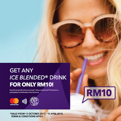 The Coffee Bean & Tea Leaf Ice Blended Drink RM10 Mastercard Contactless Promo