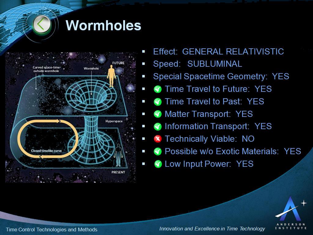Wormhole Time Travel Explained