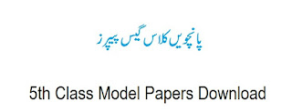 5th Class Model Papers 2018 Download by PEC - All Subjects | www.pec.edu.pk
