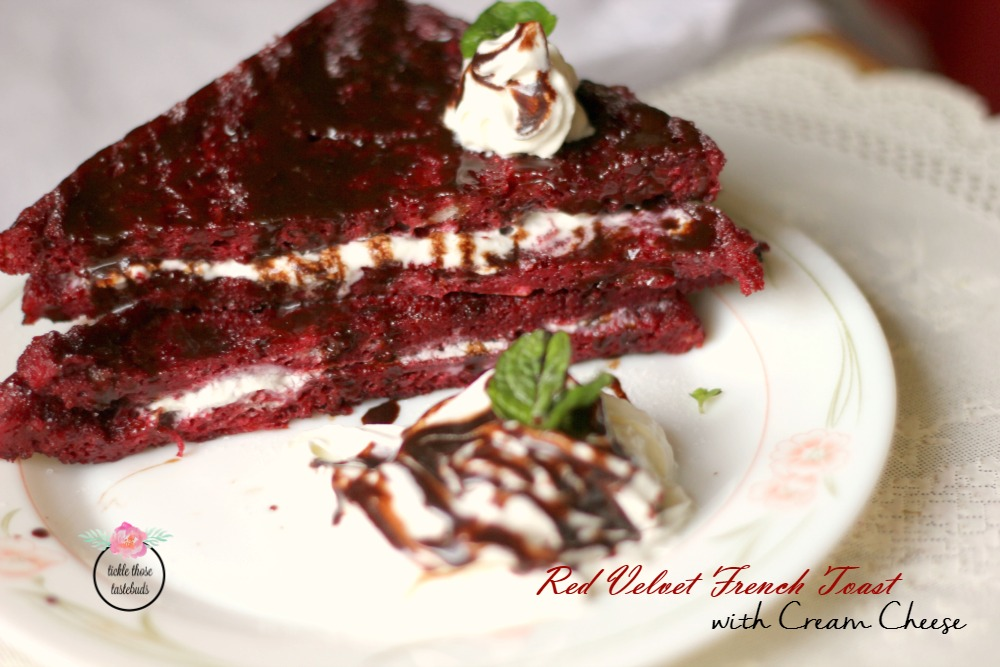 Red-Velvet-French-Toast-stuffed-with-cream-cheese
