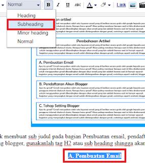 Cara Membuat Link Menuju Bagian atau Isi Dalam Artikel (Daftar Isi)