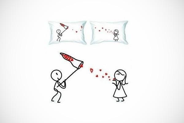 Cute Romantic Couple Pillowcases