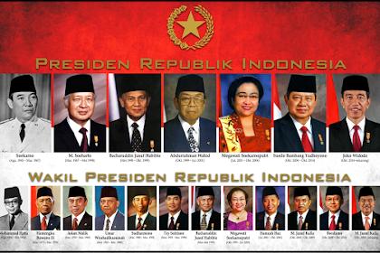 Urutan Presiden Indonesia & Wakil Presiden Pertama Sampai Sekarang