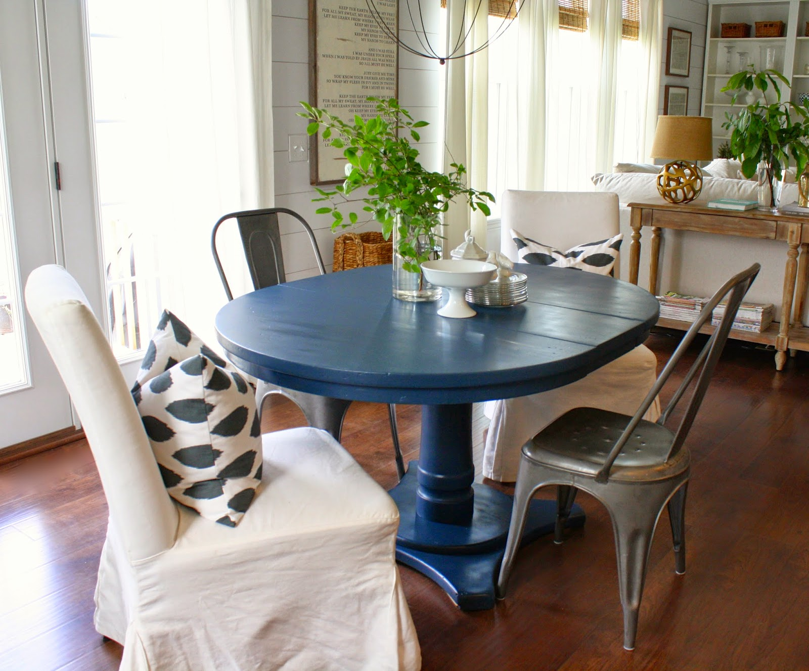 Navy Blue Dining Table  House Seven designbuild