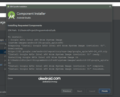 Component Installer Membuat AVD di Android Studio
