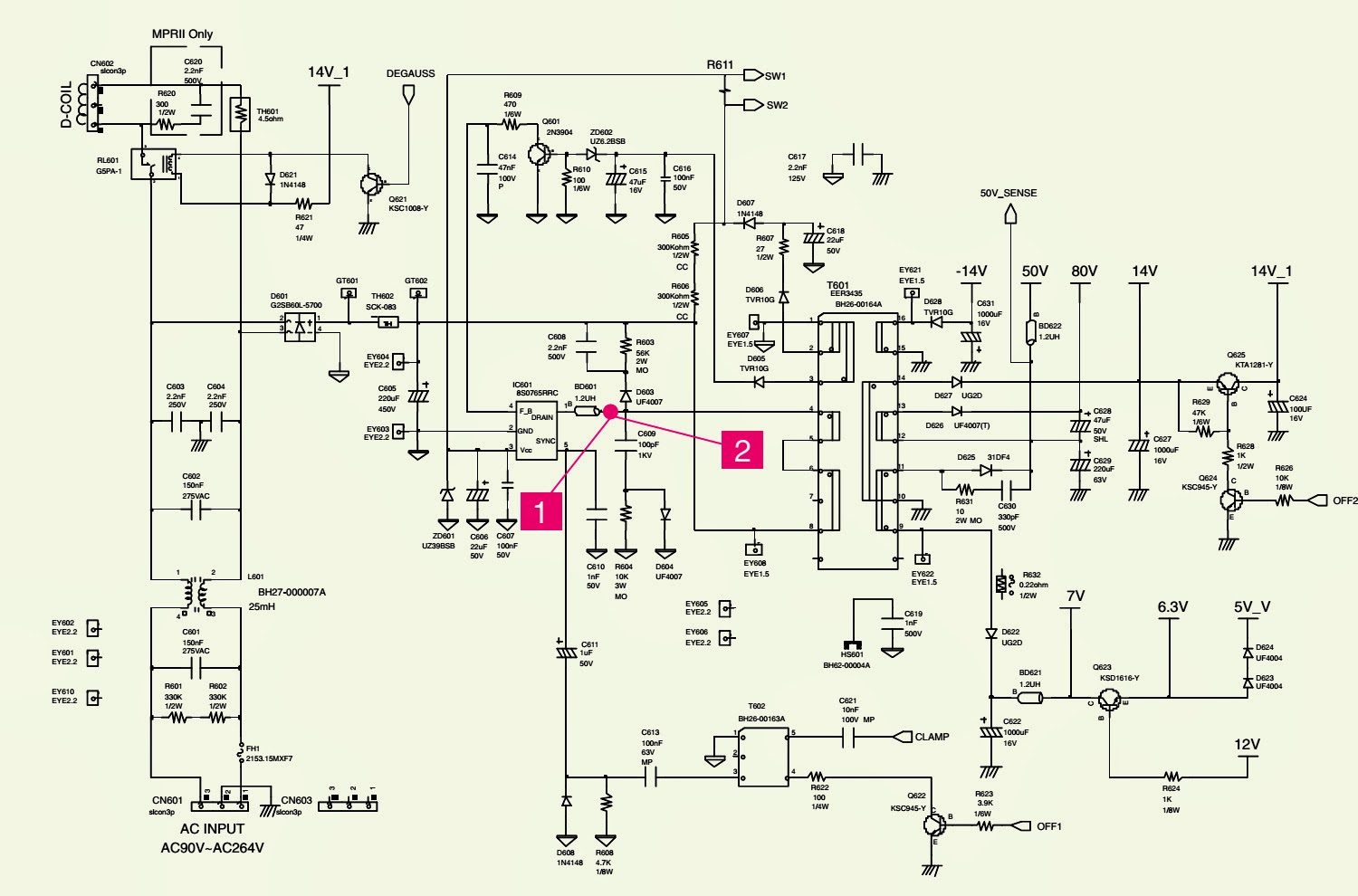 Samsung Led Monitor Circuit Diagram Wiring Bibliotheca Lcd Watch Powersupplycircuit Le17 Color Smps Power Supply Schematic Recorder