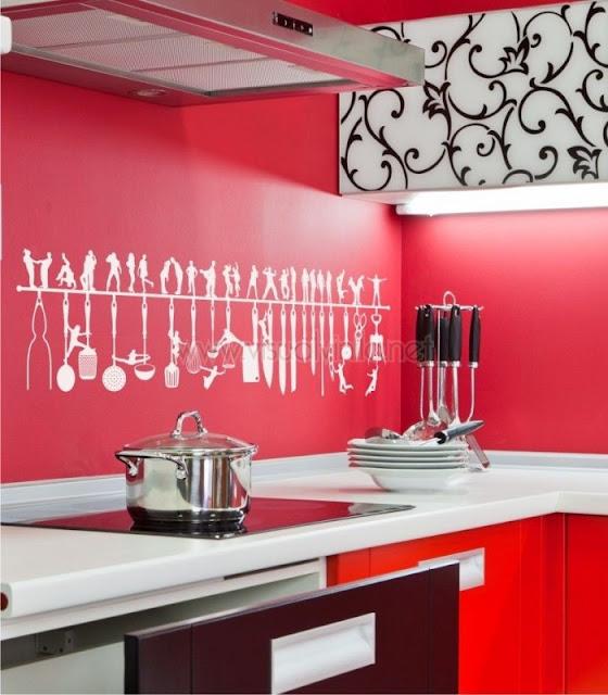 Cocinas con adhesivos decorativos decoraci n de cocinas for Adhesivos para decorar