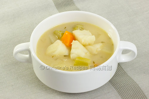 Creamy Fish Vegetable Soup02