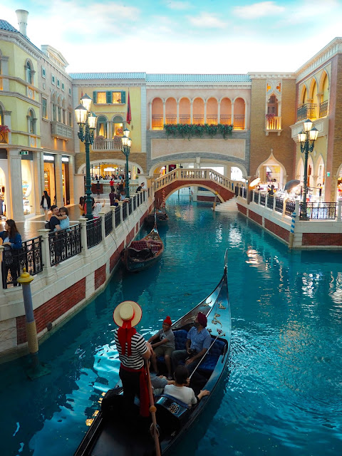 Gondola in the Grand Canal Shoppes, The Venetian, Macau