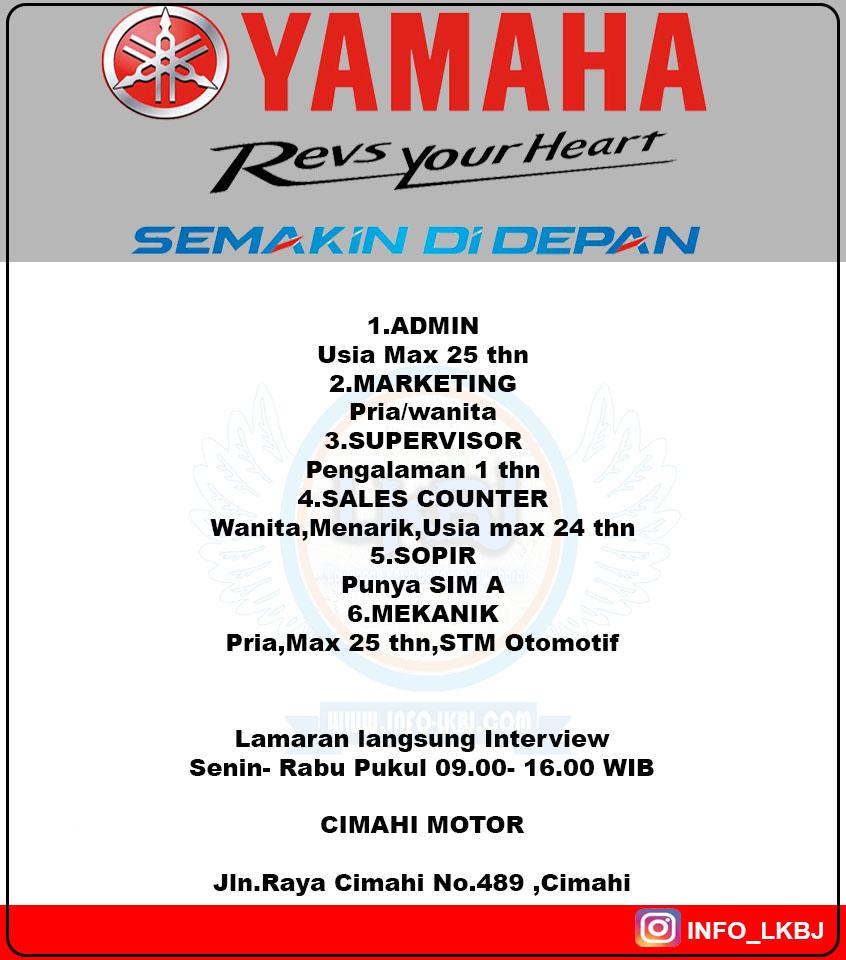 Cimahi Motor Dealer Yamaha Loker Lowongan Kerja Bandung Jawabarat