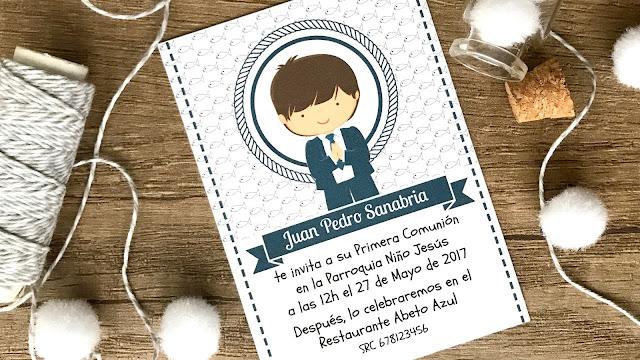 Scraparizate dise o gratis de invitaci n de comuni n para - Como hacer tarjetas para comunion ...