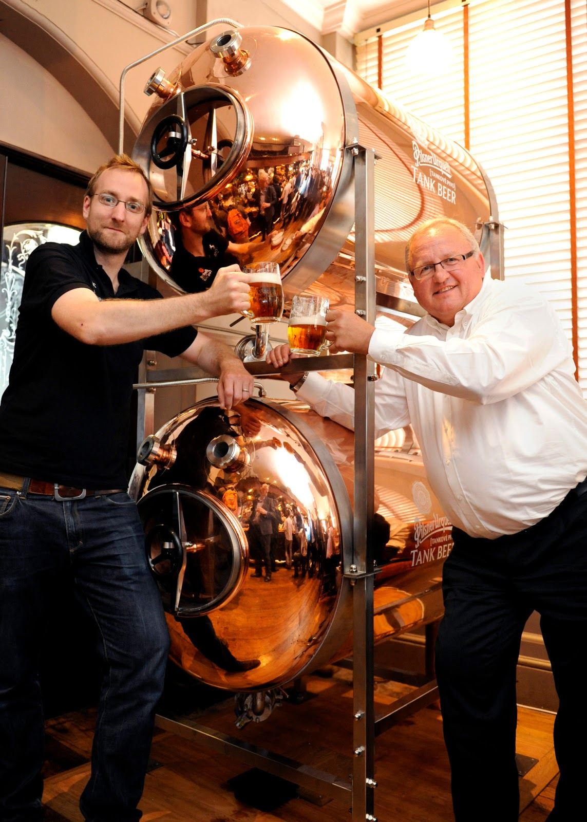 hungerlust: Pilsner Urquell launches Tank Beer at the White Horse